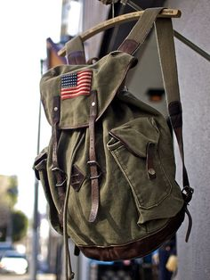canvas Backpack | Rugby / Canvas and Leather Backpack | Flickr - Photo Sharing!