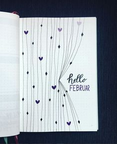 Over 33 simple ideas for the Bullet Journal to simplify your daily business . - Over 33 Simple Ideas for the Bullet Journal to Simplify Your Daily Activities – Inspiration – # - Bullet Journal Inspo, Bullet Journal Simple, Bullet Journal Spreads, February Bullet Journal, Bullet Journal Cover Page, Bullet Journal Notebook, Bullet Journal Aesthetic, Bullet Journal Themes, Journal Covers