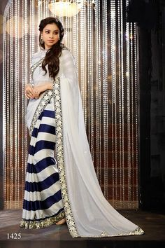 The highlight of the Designer collection is the elaborate and intricate sequins work available in a variety of materials ranging from chiffon, lazer, net and shimmer in stunning and seductive colour combinations. The sarees are complimented with designer blouse pieces that are ready to stitch. The designs and colours make these creations ideal for parties and hi-society occasions.