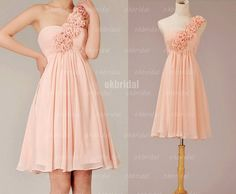 blush bridesmaid dress pink bridesmaid dress one by okbridal, $109.99