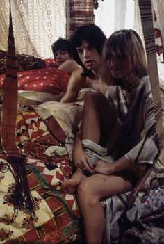 Young Mick Jagger | wild one | hot lips | the rolling stones | in bed | flirt | iconic |