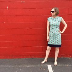 Me Made May, Day 8: McCall's 6253 dress in @artgalleryfabrics cotton knit. Back on track! #mmmay16 #memademay #isewmyownclothes #sewing