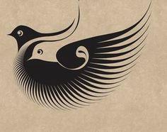 Islamic calligraphy. Qaaf.