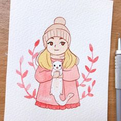 Simple art sketches ideas fashion illustrations Ideas for 2019 Girl Drawing Sketches, Girly Drawings, Love Drawings, Easy Drawings, Adorable Drawings, Drawing Art, Marker Kunst, Marker Art, Art And Illustration