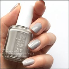 Essie Without a Stitch - from the Wild Nudes Collection 2017 - taupe-y grey #nail polish / lacquer / vernis | Swatches Review