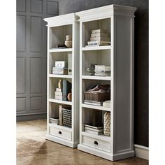 Enjoy stylish storage with the Nova Solo Halifax Decorative Bookcase with Drawer - White . This bookcase provides versatility for your storage needs,. Bookcase With Drawers, White Bookshelves, Open Bookcase, Bookcase Redo, Baby Bookshelf, Bookcases, Cubicle Storage, Living Room Furniture, Home Furniture