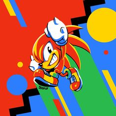 Knuckles The Echidna by Kaigetsudo on DeviantArt Knuckles The Echidna, Sonic & Knuckles, The Sonic, Sonic Art, Hedgehog Art, Sonic The Hedgehog, Cute Characters, Disney Characters, Sonic Mania