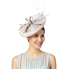 8dac620462d J by Jasper Conran - Designer grey dipped crown saucer fascinator Wedding  Guest Fascinators