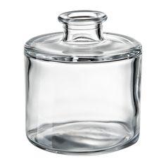 IKEA BESKÄRA Vase Clear glass 10 cm