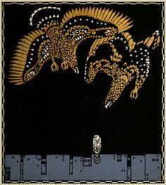 Carl Otto Czeschka, Illustration for Die Nibelungen by Franz Keim, 1909. Gerlach, Vienna & Leipzig.