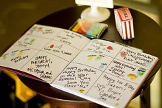 have guests write out birthday messages to Baby Girl
