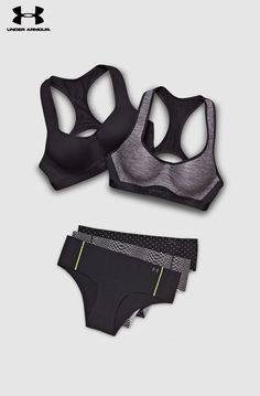 Under Armour Bra Collection and Pure Stretch Underwear. Bras that offer the support needed and underwear that won't ride up. This is what you need to cycle, run and train with zero distractions. Add them to your holiday wish list now.