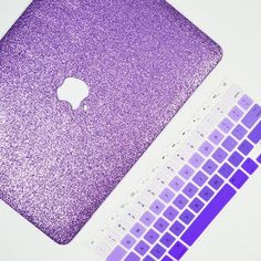 """Lavender"" MacBook case with the ""purple"" ombré keyboard cover. Lavender Glitter Macbook Case for Macbook Air, Macbook Pro, Retina Display Macbook and the new 12"" Macbook! From Embrishop.com"