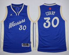 Warriors  30 Stephen Curry Blue 2015-2016 Christmas Day Stitched Youth NBA  jersey Nhl 91f32c740