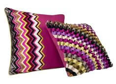 Pillows by Missoni for Target via design-milk: Coming 9/11. #Pillows #Missoni #Target