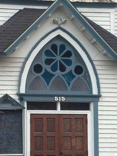 Church detail in Brownsville Oregon