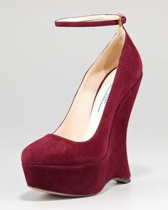 Prada  Ankle Strap Wedge Pump. So gorgeous. I couldn't walk in them but I sure love looking at them. :)