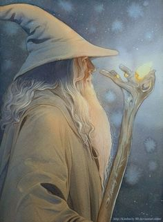 The famous wizard Gandalf; Gandalf the White aka Stormcrow. Gandalf, Legolas, Aragorn, Jrr Tolkien, Tolkien Books, Hobbit Art, O Hobbit, Arte Game Of Thrones, Beau Film
