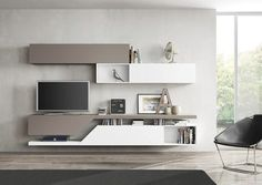 Contemporary TV wall unit / wood / lacquered wood FREE FAST KUBE Le Monde Wood