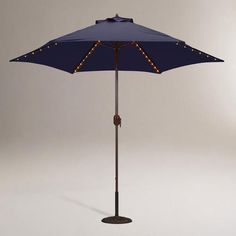 at WorldMarket.com: Navy 9-ft. Round Umbrella with Lights