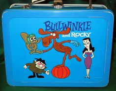 Bullwinkle and Rocky Lunch Box Retro Lunch Boxes, Lunch Box Thermos, Cool Lunch Boxes, Metal Lunch Box, Whats For Lunch, Out To Lunch, Vintage Canister Sets, School Lunch Box, Vintage School