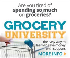 Grocery University review, for 2+ hour audio couponing course, that costs $9.97, to save you lots of cash to save money on your groceries {on Home Storage Solutions 101}