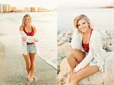 High school senior photographer Theresa Marie photos on Clearwater Beach
