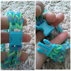 I found these cool clips at an army supply store and thought I could use them for rainbow loom and I did (it turned out awesome)