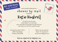 love this one! Long distance baby shower / Shower by mail