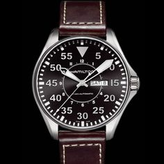 Hamilton Pilot Auto. I really like Hamilton watches, and this basic one costs about $1,200.