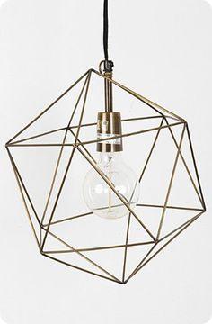 Himmeli-Inspired Geometric Pendant Light
