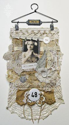 Fabric Collage by Viola