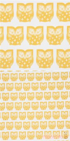 "off-white canvas fabric with mustard yellow owls, Material: 100% cotton, Fabric Type: strong canvas fabric, Pattern Size: size of the owl: ca. 6.3cm (2.5"") #Canvas #Animals #AnimalPrint #Owls #USAFabrics"