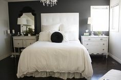 Moody Grey Bedroom by It's Great To Be Home, via Flickr
