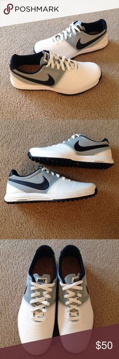 Men's Nike Lunar Mont Royal Spikeless Golf Shoe Men's Nike Lunar Mont Royal Spikeless Golf Shoe. Excellent condition. Never worn. White, gray and navy colors. Nike Shoes Sneakers
