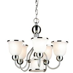 Shop Portfolio  6-Light Brushed Nickel Chandelier at Lowe's Canada. Find our selection of chandeliers at the lowest price guaranteed with price match + 10% off.