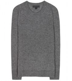 Burberry Prorsum Cashmere And Silk-Blend Sweater in Gray (grey)