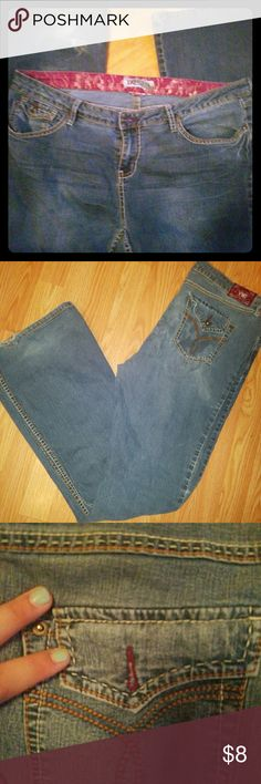 YMI Preloved Jeans These jeans have been loved & are worn in already for you! Jeans from the city of angels are so comfortable for those tshirt & jeans kinda days! No size tag but they are size 11 reg. I think they would easily fit an 11 long! The button on one cheek is missing and the back of legs at bottom are worn in. But I know anyone who puts these on will fall in love with them! The fact that they were a worn staple is already reflected in price! YMI Jeans Boot Cut