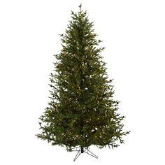 7.5ft Classic Pine & Pine Cone Christmas Tree