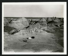 Summary: 1941 Expedition to Wyoming - Field Photos. Photograph of Charles Lewis Gazin's field work and collecting in Wyoming, 1941. Two tents and a Jeep in the center of image, with mountains in the background.
