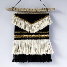 rustic black and mustard weaving | western vibes