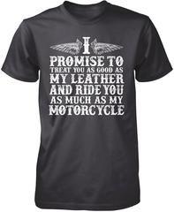 The Motorcycle Vow - Premium T-Shirt / Dark Heather / 3XL