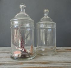 Large Glass Apothecary Jar By OceanSwept On Etsy, $18.00