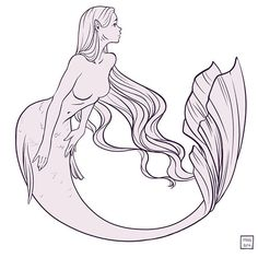 """So that the monotonous fall of the waves on the beach, which for the most part beat a measured and soothing tattoo to her thoughts seemed consolingly to repeat over and over again."" - Virginia Woolf Another mermaid gazing into the distance #drawing #lineart #linedrawing #mermaid #instaartexplorer #digitalsketch #drawingart #drawingaday #dailydrawing #sketchday #createeveryday"