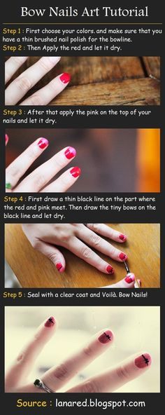 Bow Nails Art Tutorial
