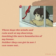 This poem is about a girl who is at home in isolation from days. It's raining outside and wind is blowing but there is no way she can step out because it's the only way she makes sure that she survives! #poem #poetry #shortpoem #fiction #rebekkakaur #deeppoems #famouspoem #pandemic #quarantine #isolation Raining Outside, It's Raining, Famous Poems, Short Poems, Wind And Rain, Touching Herself, The Only Way, The Outsiders, Funny Stuff