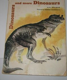 An old dinosaur book that is in the collection at Everything Dinosaur.