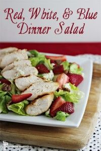 Red, White, and Blue Dinner Salad -- #TheSaladBar - Home Cooking Memories