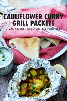 These Cauliflower Curry Grill Packets from Vegan Yack Attack On The Go are my new summertime staple! Perfect for camping, BBQs, and grilling at home!