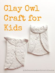 Step-by-step tutorial for a fun clay owl craft for kids to make.  #kidcraft #kidactivity #owls
